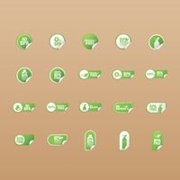 Popular : Set of label icons