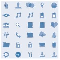 Set of media icons