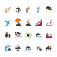 Set of natural phenomena and disaster icons