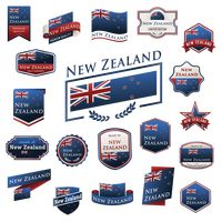 Popular : Set of new zealand label icons