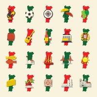Popular : Set of portugal icons