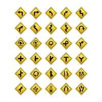 Popular : Set of road sign icons