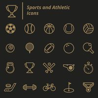 Set of sports and athletic icons