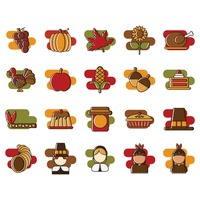 Set of thanksgiving icons
