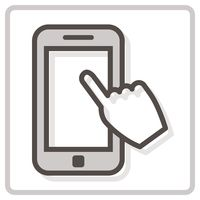 Popular : Smartphone with touch icon