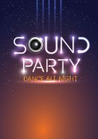Sound party poster design