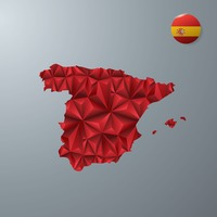 Popular : Spain map with flag