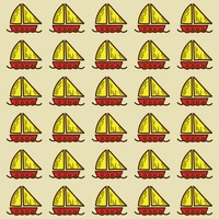 Spain sailboats pattern background