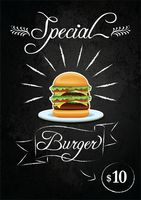 Special burger promotional design