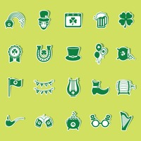 St patrick s day icons collection