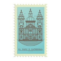 St paul s cathedral postage stamp