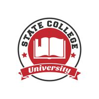 State college university logo element