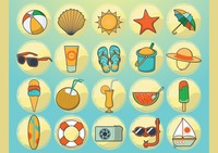 Popular : Summer vacation vectors