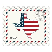 Texas postage stamp