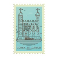 Tower of london postage stamp