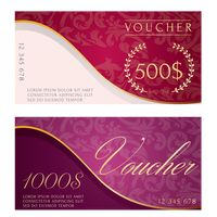 Two classic vouchers