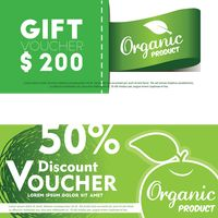 Two green gift vouchers