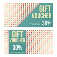 Two retro style gift vouchers