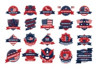 Popular : United states independence day labels