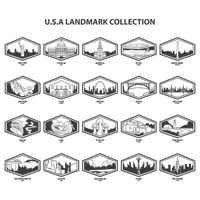 Usa landmarks collection