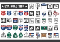 Popular : Usa road sign