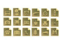 Various vintage icons