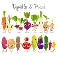 Vegetables and friends