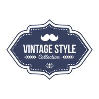 Vintage style collection label