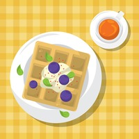 Popular : Waffle tart with blue berry