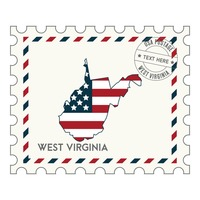 West virginia postage stamp