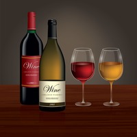 Popular : Wine glass with bottle