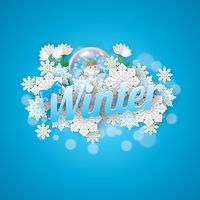 Popular : Winter lettering design