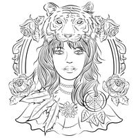Woman with tiger design