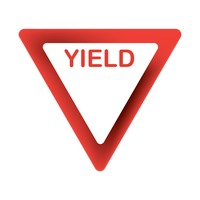 Popular : Yield road sign