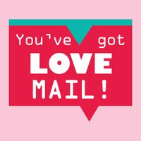 You ve got love mail speech bubble