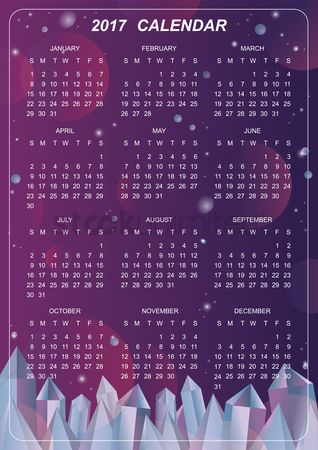 Oct : 2017 crystal design calendar