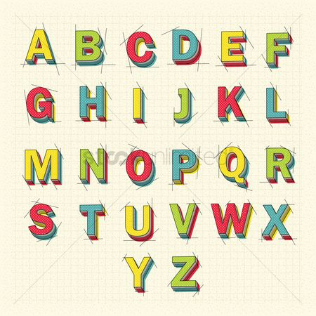 Collections : 3d alphabet letters