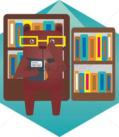 Racks : A bear in a library