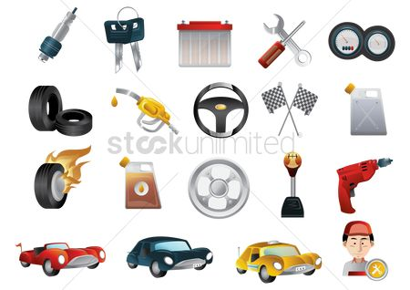 Screwdriver : A collection of automobile items