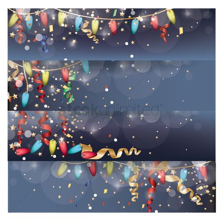 Decorations : A collection of christmas lights banner