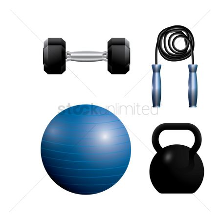 Strength exercise : A collection of gym equipment