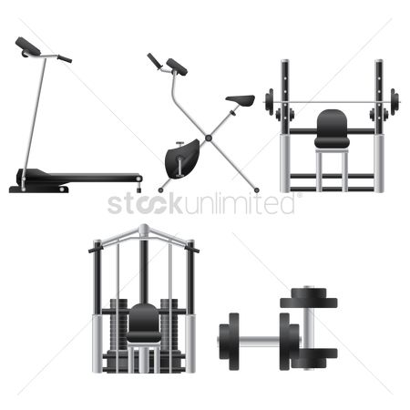 Stationary : A collection of gym equipment