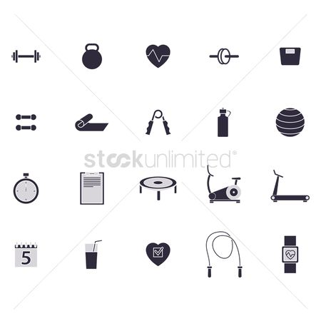 Health : A collection of gym items