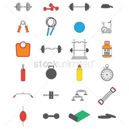 Accessories : A collection of gym items