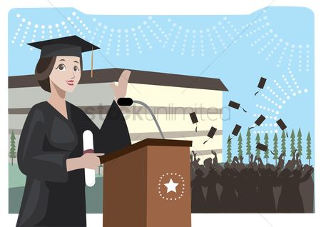 Achievement : A graduate giving a speech