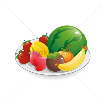 Starfruit : A plate of fruits