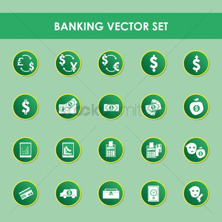 Increase : A set of banking items