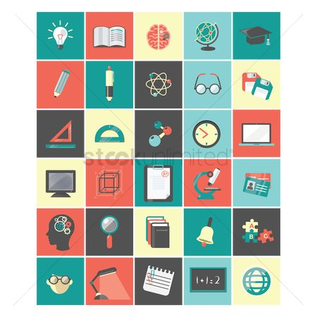 Ideas : A set of education icons