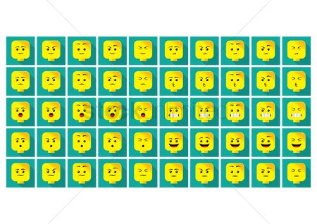 Annoy : A set of emoticon showing various facial expressions