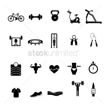 Lady : A set of gym items